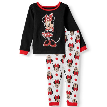 Minnie Mouse Ideas (Minnie Mouse Toddler Girl Snug Fit Cotton Long Sleeve Pajamas, 2-Piece)