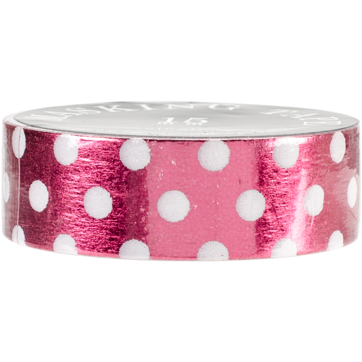 Love My Tapes Foil Washi Tape 15mmx10m-Red White Dots