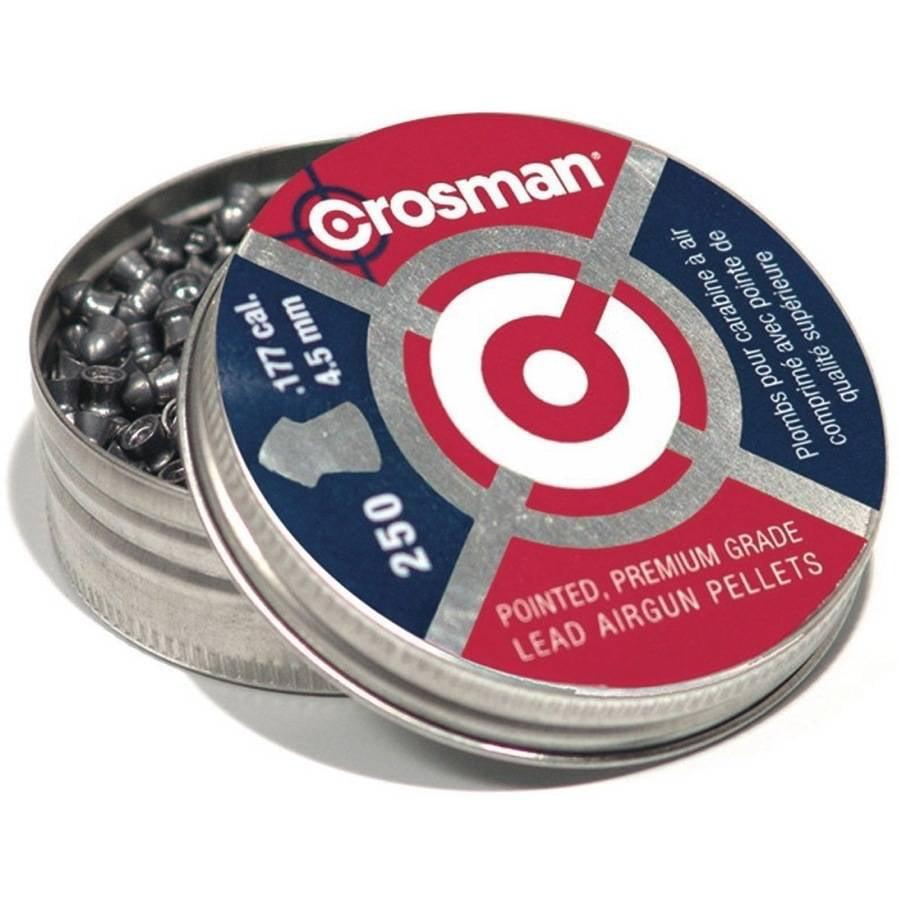 Crosman Pointed .177 Caliber 7.4 Grain Airgun Pellets, 250ct by Crosman Corporation