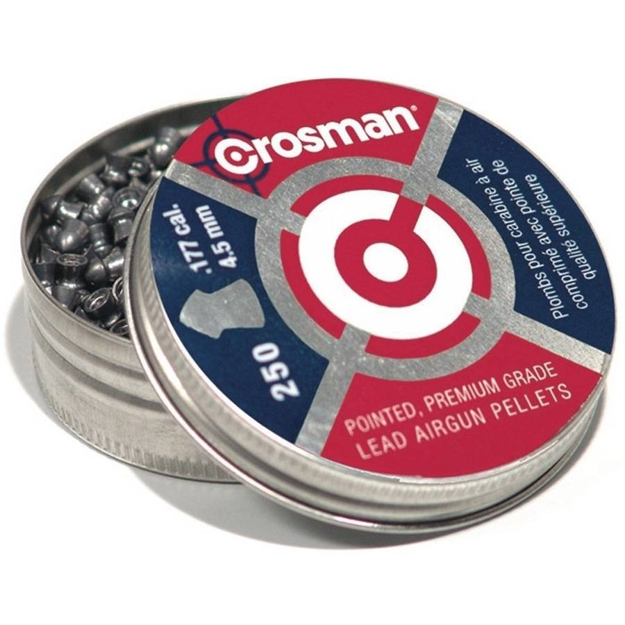 Crosman Pointed .177 Caliber 7.4 Grain Airgun Pellets, 250ct