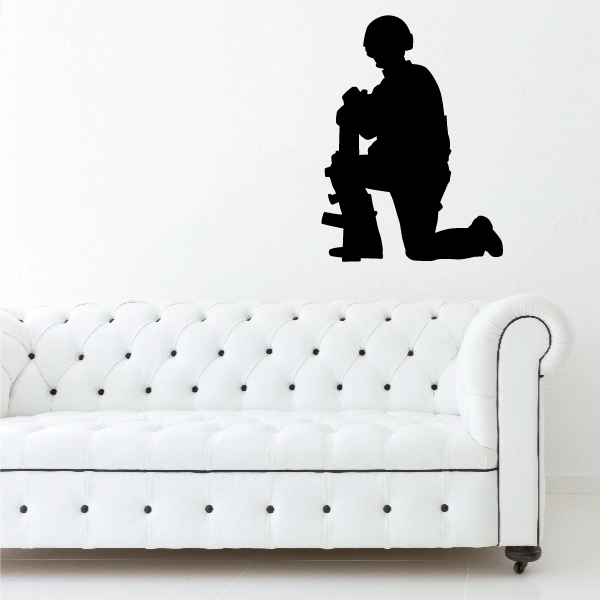 Soldier Wall Decal - Vinyl Decal - Car Decal - Vd005 - 36 Inches