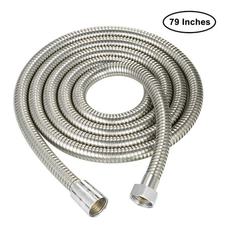 79 Inches Shower Hose Flexible Stainless Steel Tube for Handheld Shower Head Extra Long Explosion Proof Replacement Hose with Brass Fitting