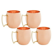 16 Oz. Solid Copper Moscow Mule Mugs, Set of 4