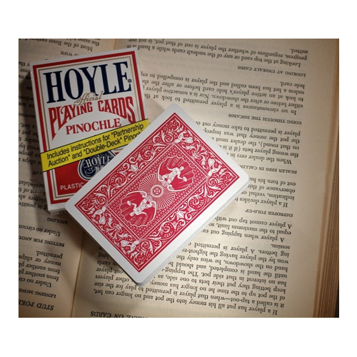 Hoyle Pinochle Standard Index Playing Cards - 1 Sealed Red Deck #1001128