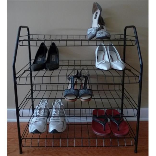 American Trading House NR01-B ATHome Contemporary Shoe Racks- Black
