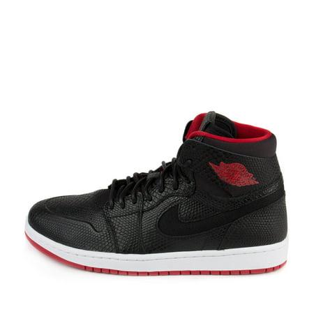 online store db29c da8cf Nike - Air Jordan 1 Retro High Nouveau Snakeskin Black Gym Red White  819176-0 - Walmart.com