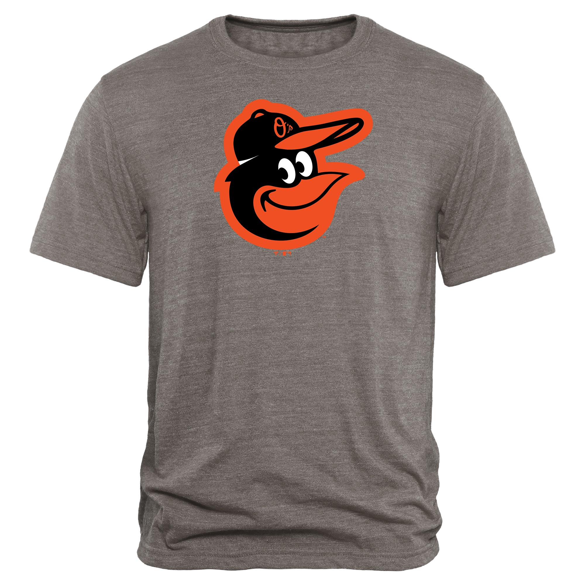 Baltimore Orioles Rally Primary Logo Tri-Blend T-Shirt - Heathered Gray