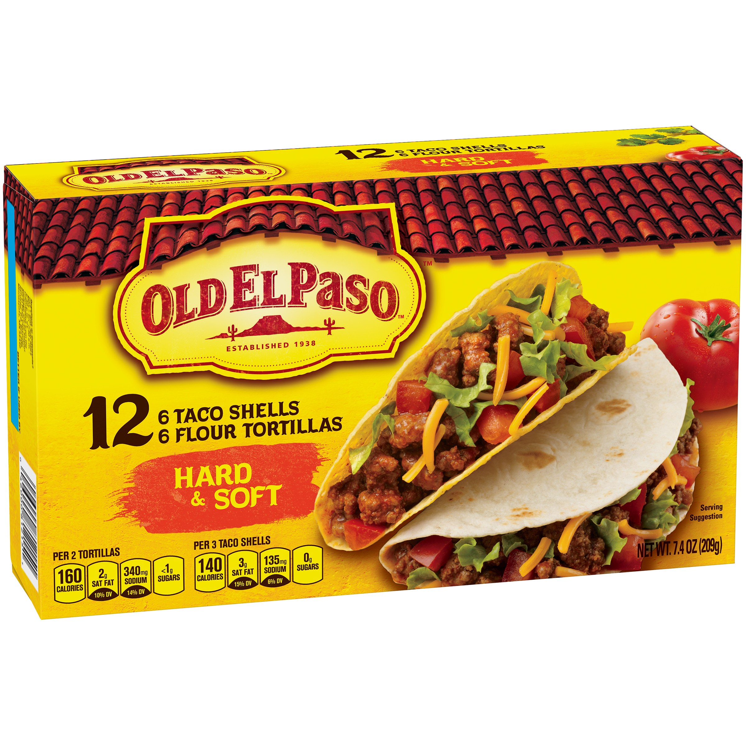 Old El Paso Hard & Soft Taco Shells and Flour Tortillas, 12 count, 7.4 oz by General Mills Sales, Inc.