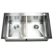 eModern Decor 36'' L x 22'' W Double Bowl Kitchen Sink