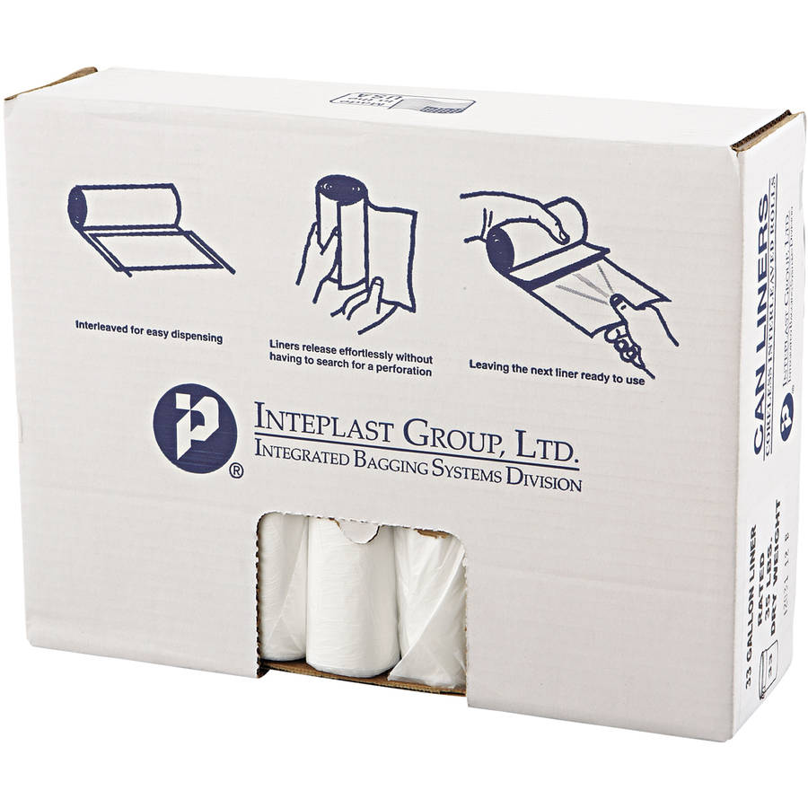Inteplast Group Clear 33 gal. High-Density Can Liners, 25 count, (Pack of 20)