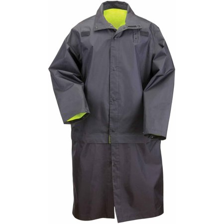 5.11 Tactical Men Long Reversible High Visibility Rain Coat, Ansi Class 3, Black thumbnail