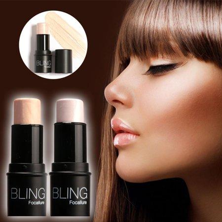 Highlighter Stick Shimmer Powder Cream Shadow Highlighting Face Eyes Makeup Cosmetics Silver Gold Waterproof BTC