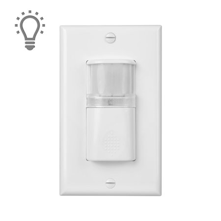 Motion Sensor Light Switch with Built in Light & Adjustable Time - UL Certified