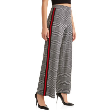 Classic Plaid Trousers (Juniors' Houndstooth Printed Wide Leg)
