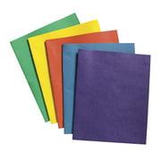 """School Smart Heavy Duty Leatherette-Pocket Folder, 9.5"""" x 11.75"""", Pack of 25"""