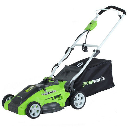 "Greenworks 120V 16"" Electric Lawn Mower, Green 25142 by Sunrise Global Marketing"