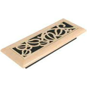 Vine Design Maple Register, 3 In. X 10 In., Satin Brass