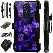 LuxGuard Phone Case Cover For LG Stylo 4 | Stylo 4 Plus | Q Stylus Q Plus Q Alpha (Artistic Camo Purple)