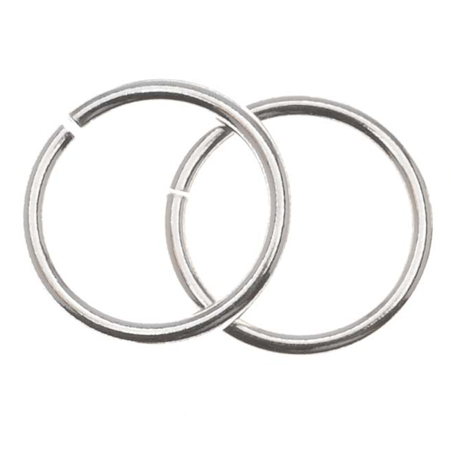 Sterling Silver Heavy 14mm Open Jump Rings 14 Gauge (2)