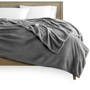 Bare Home Ultra Soft Microplush Fleece Blanket (Full/Queen, Gray)