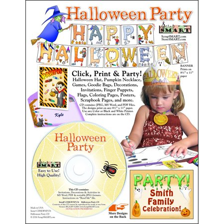 Grade 1 Halloween Crafts (ScrapSMART Halloween Party: Decorations, Crafts, Scrapbook and Coloring Pages)
