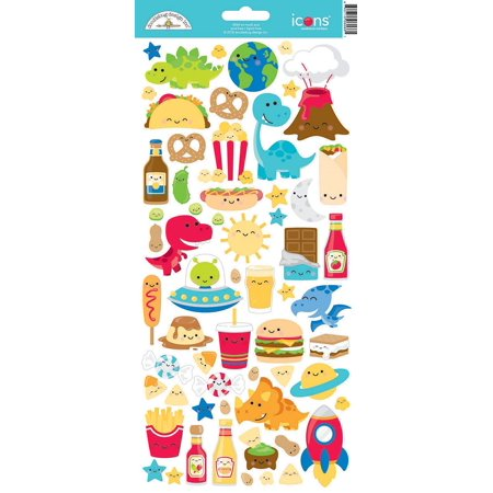 Doodlebug Cardstock Stickers-So Much Pun Icons Doodlebug Design Cardstock Stickers
