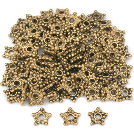 Star Bali Spacer Beads Antq Gold Plate 6.5mm Approx 100 Bali Vermeil Spacer Beads