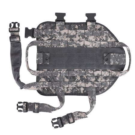Tactical Scorpion Dog Vest Harness K9 Camo MOLLE Military Training D1
