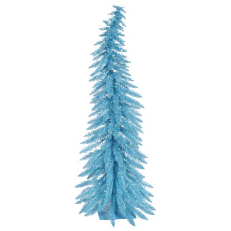 5 pre lit whimsical sky blue spruce artificial christmas tree blue lights