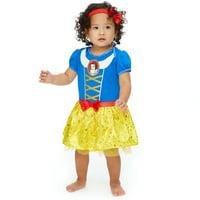 Disney Princess Snow White Baby Girls Costume Bodysuit Dress Headband 18-24 Months