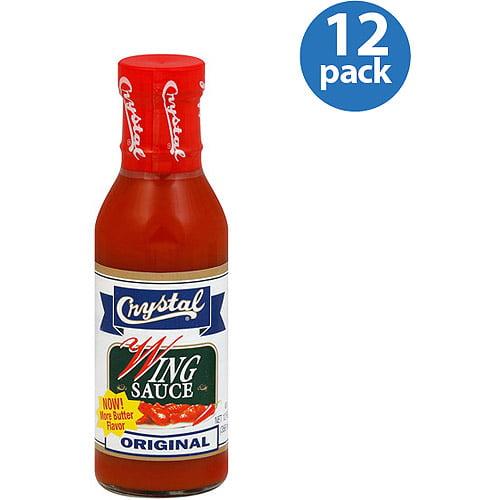 Crystal Original Wing Sauce, 12 oz (Pack of 12)