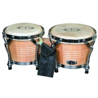 "GP Percussion Pro-Series Tunable 6""/7"" Bongos, Natural"