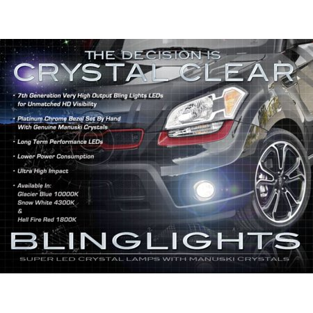 Blue Fog Light Kit (New 2010 2011 Kia Soul LED Fog Lamps Driving Lights Kit Blue or White)
