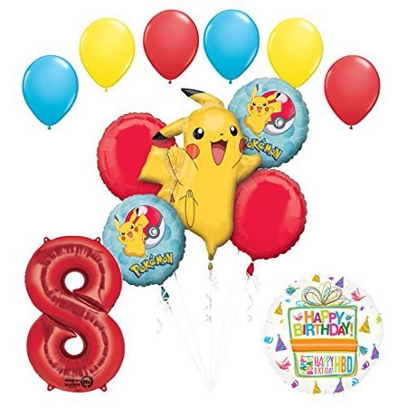 Pokemon 8th Birthday Party Supplies and Balloon Bouquet Decorations - Balloon Pokemon