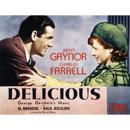 Delicious Charles Farrell Janet Gaynor 1931 Tm And Copyright 20Th Century Fox Film Corp All Rights Reserved  Courtesy Everett Collection Movie Poster Masterprint - Halloween Film Rights