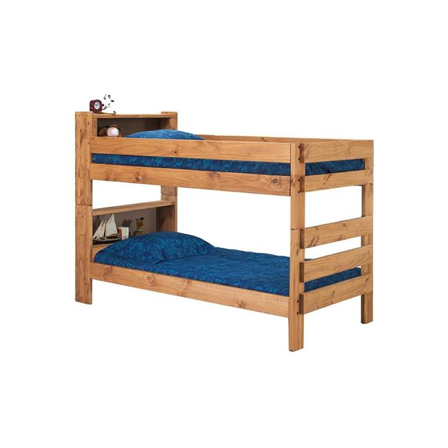 Chelsea Home Furniture 31Gin4015 Twin Over Bookcase Bunk Bed, Ginger