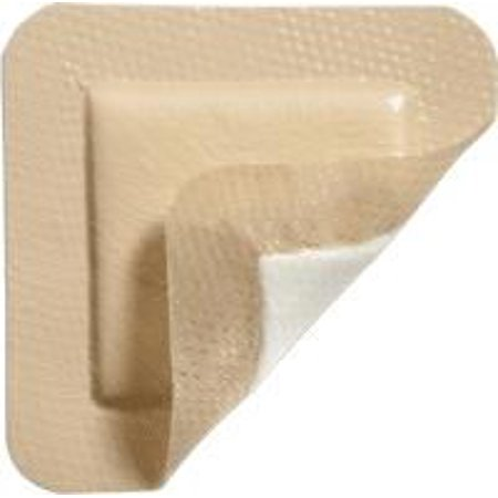Mepilex Border Lite Thin Silicone Foam Dressing Adhesive with Border Sterile 4 X 4 Inch Square, 2 Boxes of 5 ()