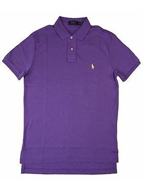bf598c708acec Product Image Ralph Lauren Polo Mens Pima Soft Touch Polo Shirt Pony Logo  Purple/Green New (