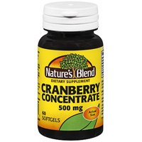 Nature's Blend Cranberry Concentrate Softgels, 500 mg, 60 Count