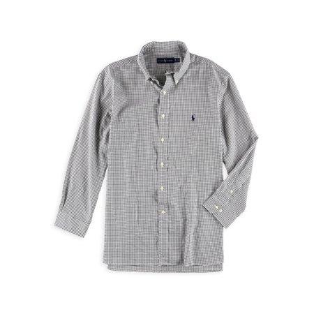 Ralph Lauren Mens Ink Check Button Up Dress Shirt inkwhite 17 - Big & Tall ()