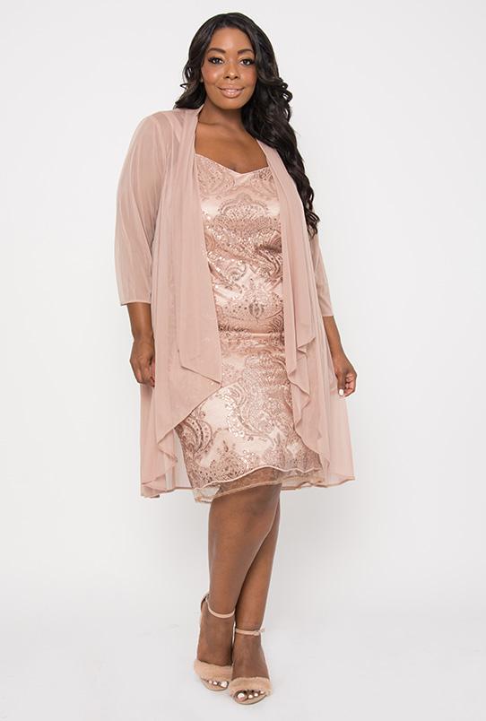 R&M Richards - R&M Richards Short Plus Size Mother of the Bride Dress -  Walmart.com