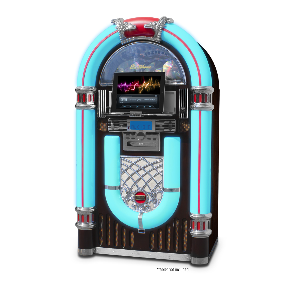 Electrohome Kinsman Jukebox with CD Player, FM Radio, USB & SD