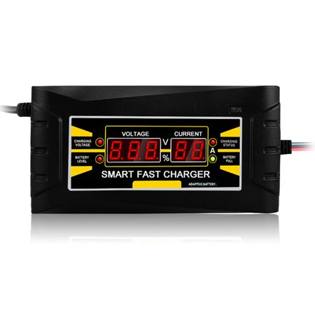 Full Automatic Car Battery Charger 150V/250V To 12V 6A Smart Fast Power Charging For Wet Dry Lead Acid Digital LCD Display US