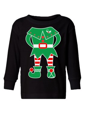 Awkward Styles Ugly Christmas Long Sleeve Shirt for Boys Girls Toddler Green Elf Xmas Shirt