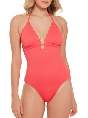 6e328c1b523 Product Image Women s Pique Scalloped One Piece Swimsuit