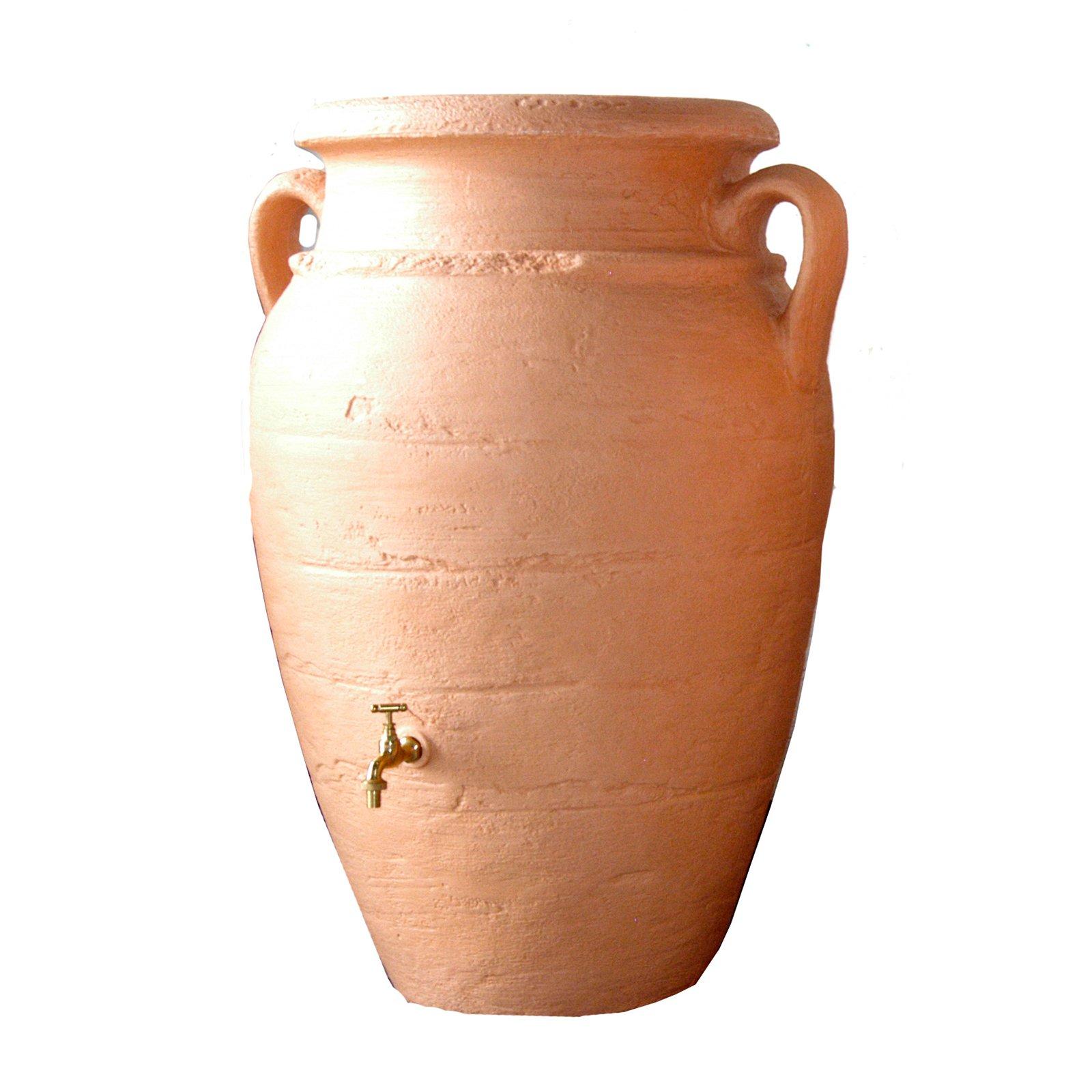 Exaco 66 Gallon Roman Rain Barrel With Planter Walmart Com