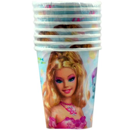 Barbie 'Fairytopia' Mermaidia 9oz Paper Cups (8ct) (Barbie Mermaidia)