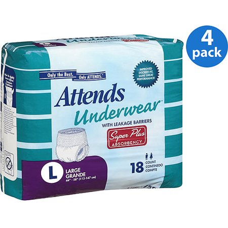 4a7f889349f (4 Pack) Attends Advanced Adult Incontinence Underwear