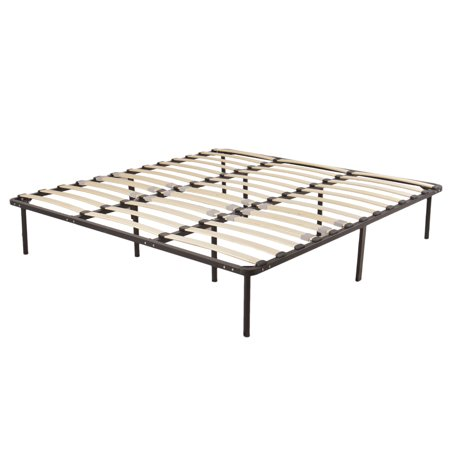ktaxon wood slats metal bed frame platform bedroom mattress foundation base king queen full twin. Black Bedroom Furniture Sets. Home Design Ideas