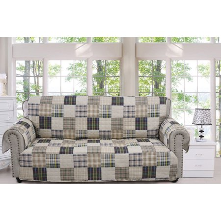 Global Trends Ozark Sofa Couch Cover Slipcover Protector Tan ()